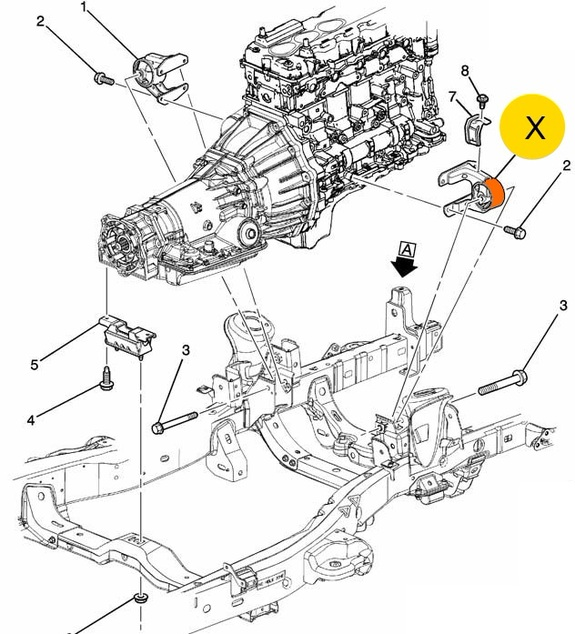 опора двигателя hummer h3