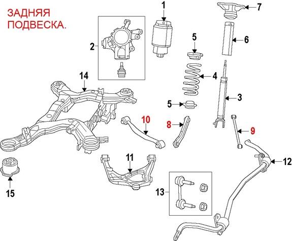 подвеска джип гранд чероки WK2