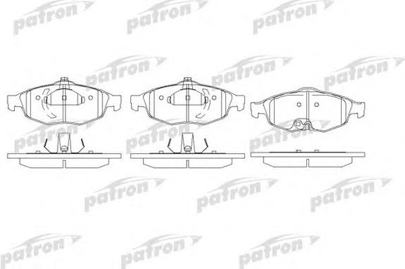 PBP1550 Колодки тормозные Chrysler Sebring 2001-2006 Колодки тормозные Крайслер Себринг 2001-2006 Колодки тормозные Dodge Stratus 2001-2006 Колодки тормозные Додж Стратус 2001-2006