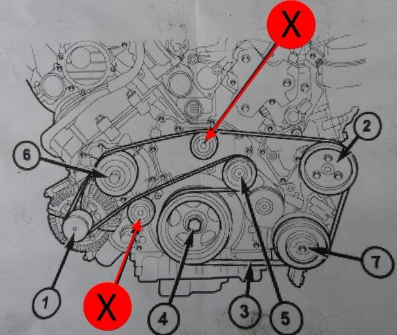 Обводной ролик приводного ремня jeep 3.0 crd