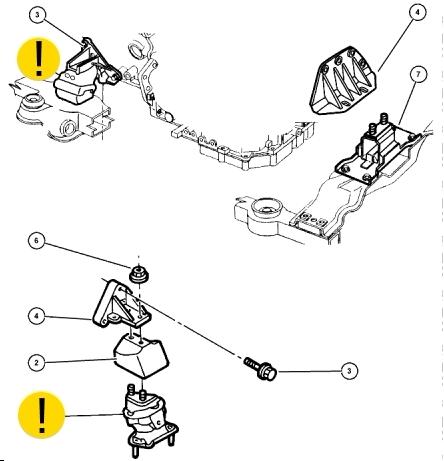 опора двигателя додж интерпид крайслер конкорд