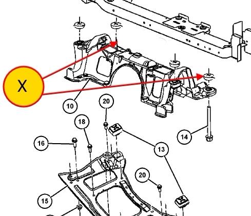 Подрамник додж караван крайслер вояджер крайслер таун кантри