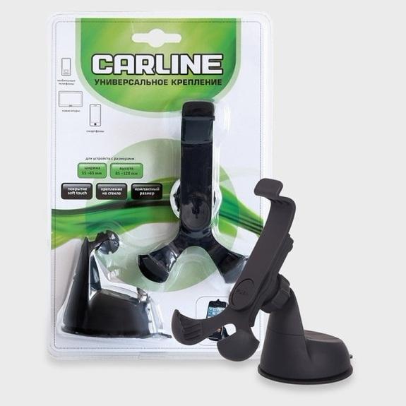 Держатель автомобильный CARLINE soft touch,360°,