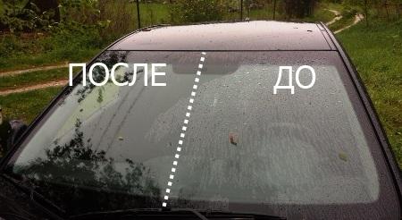 водо и грязе отталкивающее покрытие для стекла