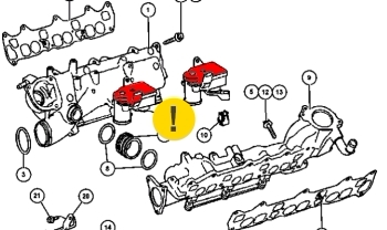 мотор привода воздушной заслонки jeep 3.0