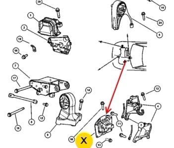 опора двигателя себринг стратус