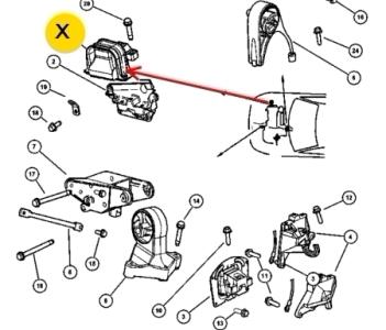 подушка двигателя стратус себринг